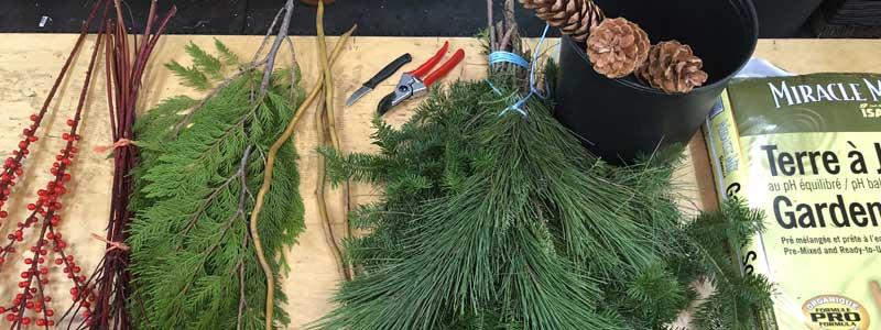 matériel nécessaire pour faire un pot de sapinage